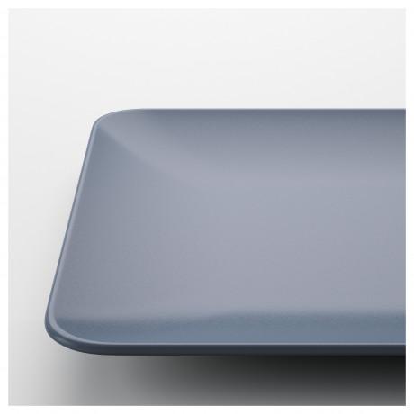 Тарелка ДИНЕРА серо-синий фото 4