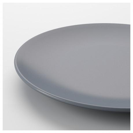 Тарелка ДИНЕРА серо-синий фото 1