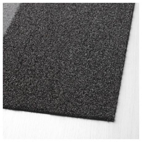 Придверный коврик ДЖЕРСИ темно-серый фото 2