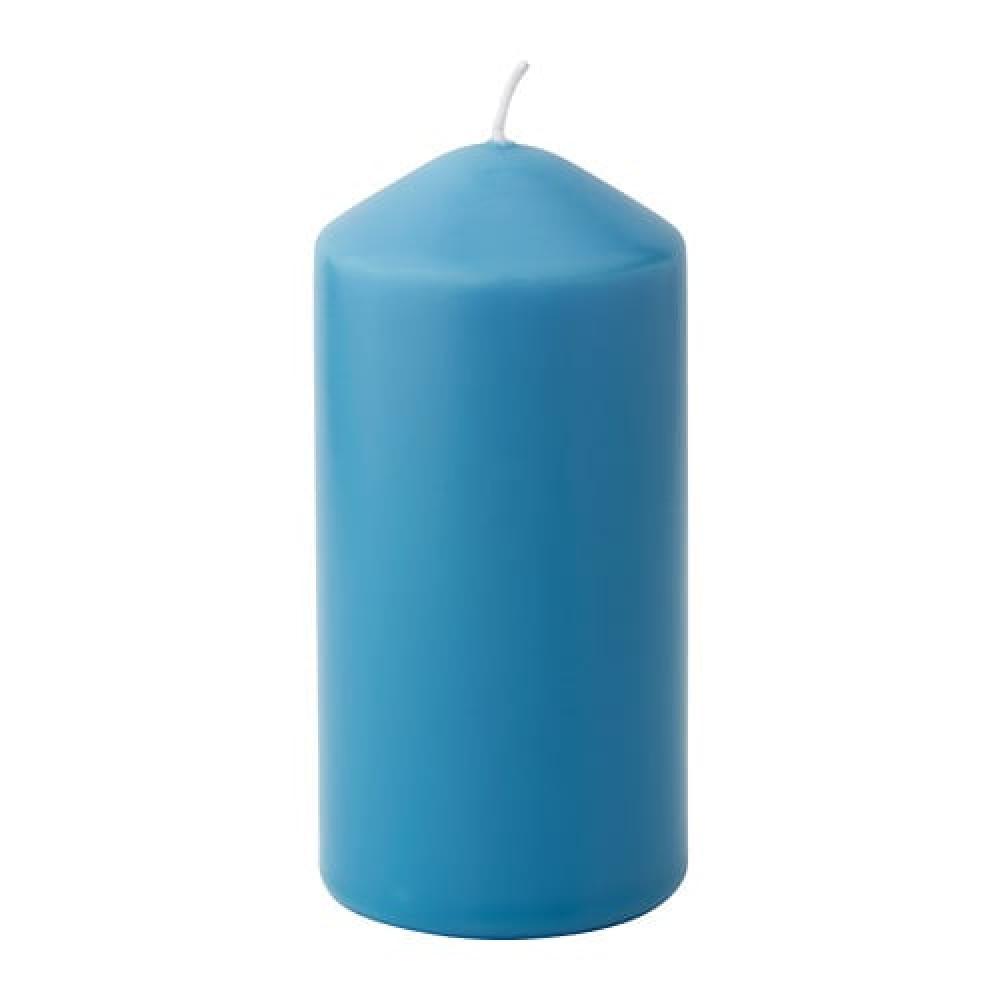 Неароматич свеча формовая ДАГЛИГЕН синий  фото 1