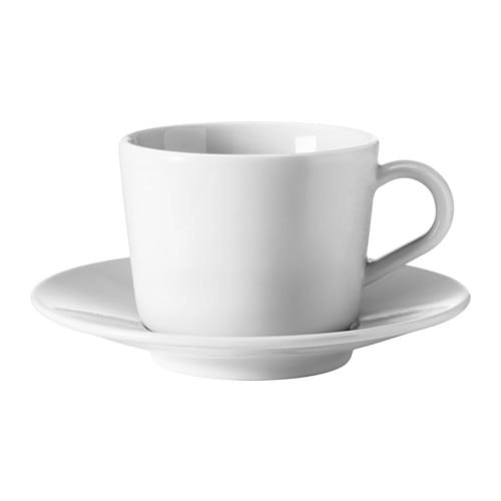 Чашка с блюдцем ИКЕА/365+ белый  фото 1