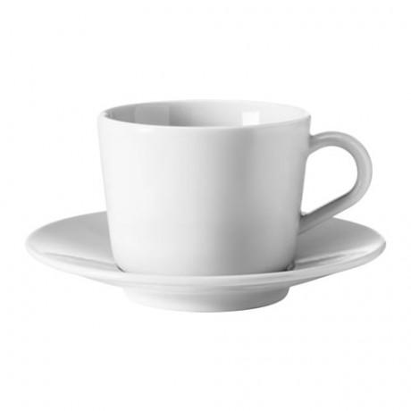 Чашка с блюдцем ИКЕА/365+ белый фото 3