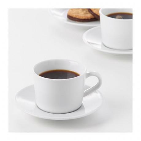 Чашка с блюдцем ИКЕА/365+ белый фото 4