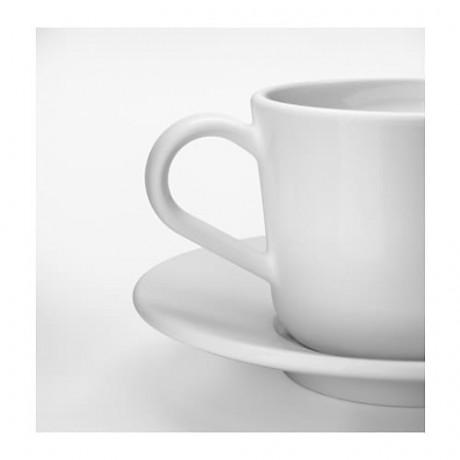 Чашка с блюдцем ИКЕА/365+ белый фото 5