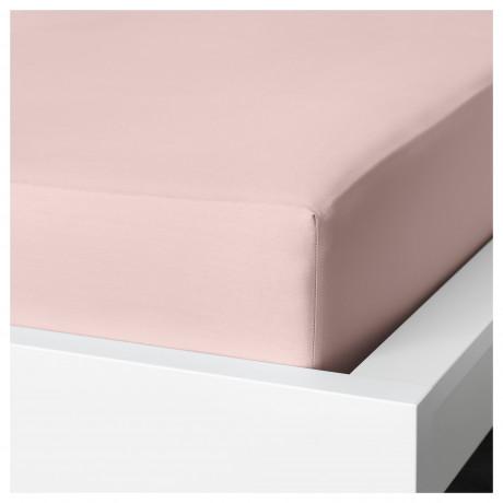Простыня натяжная ДВАЛА светло-розовый  фото 1