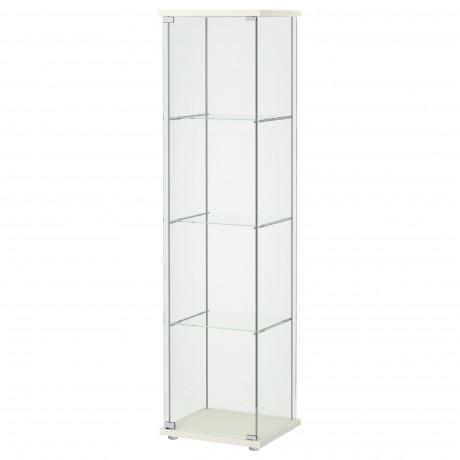 Шкаф-витрина ДЕТОЛЬФ белый фото 4